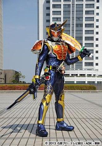 "Kamen Rider Gaim - Kamen Rider Gaim's ""Orange Arms"" form comes from Japanese armor and the orange."