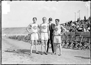 Jim Lightbody - Lacey Hearn, James Lightbody, Mike Butler and Frank Verner at the 1904 Olympic Games