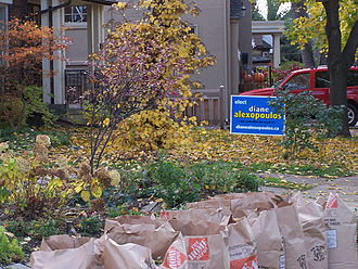 Toronto municipal election, 2006 - A lawn sign in the 2006 Municipal Election in Toronto