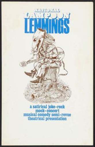 Lemmings (National Lampoon) - The poster for the 1973 show.