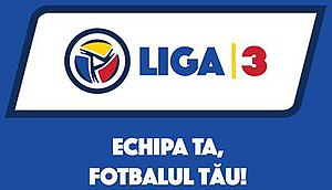"Liga III - Liga III logo and the motto of the competition ""Your team, your football!"""