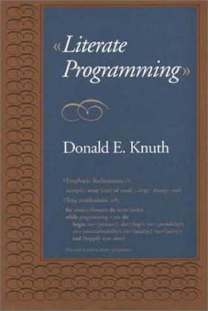Literate programming - Literate Programming by Donald Knuth is the seminal book on literate programming