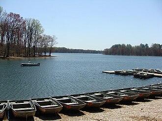 Loch Raven Reservoir - Boat rental at the Fishing Center