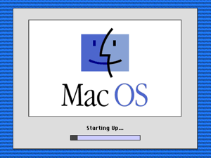 Macintosh startup - The splash screen under Mac OS 8.