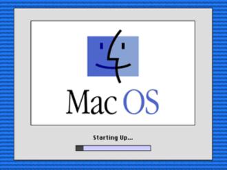 Macintosh startup - The splash screen under Mac OS 8.
