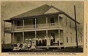 Chickasaw Female College - Martha Washington Home, Chickasaw Female College