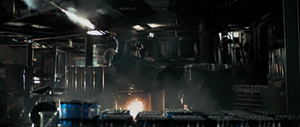 """Max Payne (film) - A high-speed camera was used to create a bullet time effect for this shot, called """"Boom Vision"""""""