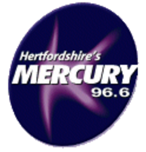 Heart Hertfordshire - Logo of Mercury 96.6 during Gcap Media ownership