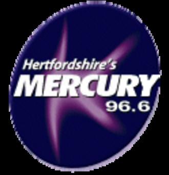 Heart Hertfordshire - Logo of Mercury 96.6 during Gcap Media ownership