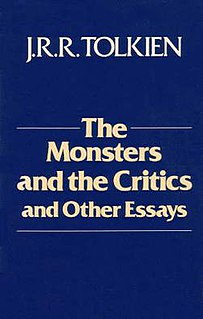 <i>The Monsters and the Critics, and Other Essays</i> collection of J. R. R. Tolkiens scholarly linguistic essays