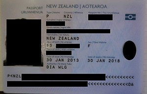 Passport validity - Image: New Zealand 5 Year Passport
