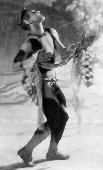 Afternoon of a Faun (Nijinsky) - Nijinsky as the faun. Taken by Baron de Meyer who published a book of photographs of the ballet