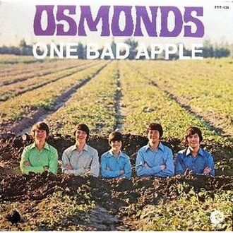 One Bad Apple - Image: One Bad Apple The Osmonds cover