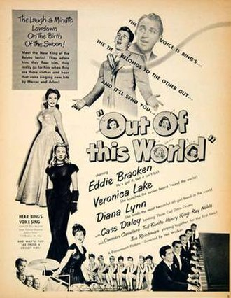 Out of This World (1945 film) - Image: Out of This World (1945 film) advert