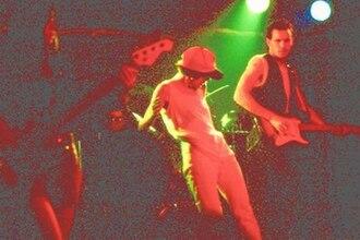 Crash Vegas - Michelle McAdorey (centre) and Colin Cripps (right)