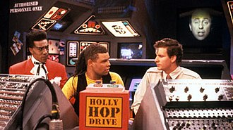 Parallel Universe (Red Dwarf) - The crew use the Holly Hop Drive to go back to Earth, but instead are transported to a parallel universe