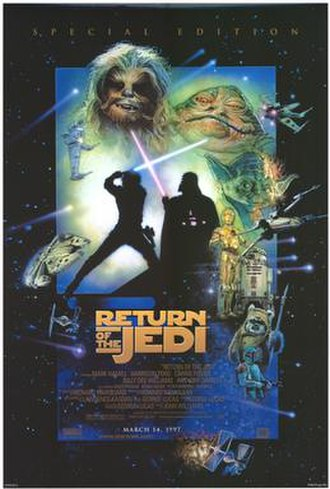 Return of the Jedi - The 1997 theatrical release poster of the new Special Edition version of the film (art by Drew Struzan)