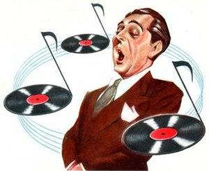 Sam Berman - Robert Merrill, as caricatured by Sam Berman for NBC's 1947 promotional portfolio.