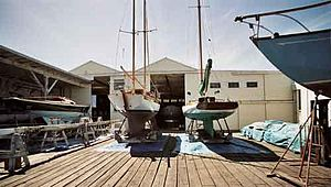 Spaulding Wooden Boat Center - The working boatyard at SWBC