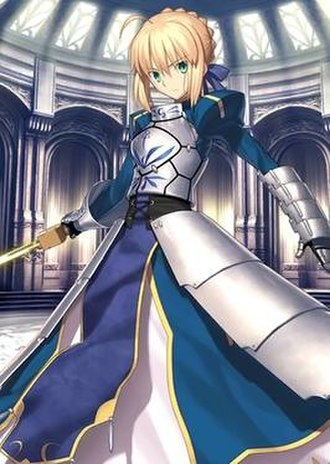 Saber (Fate/stay night) - Saber wielding Excalibur, as seen in Fate/Grand Order.