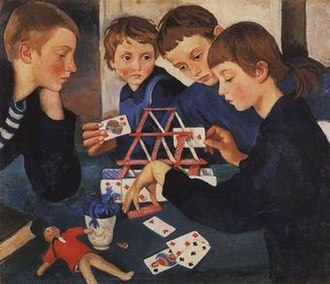 Zinaida Serebriakova - House of Cards, 1919