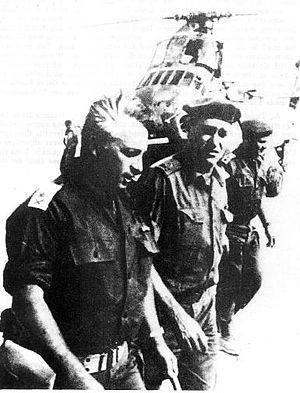 Israel Defense Forces - Major-Gen. Ariel Sharon (left), during the Battle of Abu-Ageila, June 1967