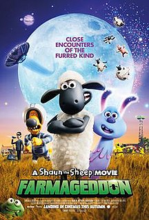 <i>A Shaun the Sheep Movie: Farmageddon</i> 2019 film directed by Will Becher and Richard Phelan