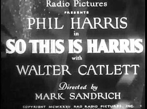 So This Is Harris! - Title card