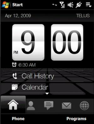 HTC Touch Diamond - TouchFLO 3D Home tab