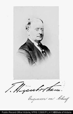 Thomas Higinbotham - PORTRAIT OF T HIGINBOTHAM, Engineer in Chief