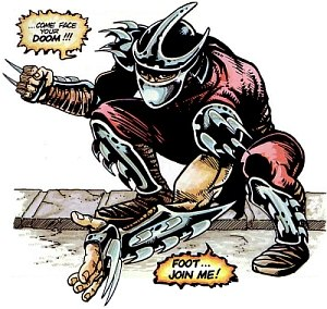 Shredder (Teenage Mutant Ninja Turtles) - Shredder in the first TMNT comic.
