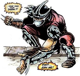 Shredder (Teenage Mutant Ninja Turtles) - Shredder in the first TMNT comic.
