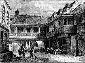 The Tabard - Just before it was demolished in 1873