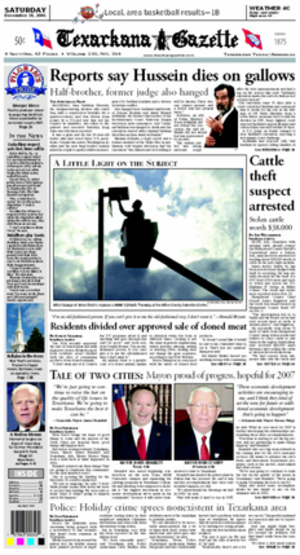 Texarkana Gazette - Image: Texarkana Gazette cover