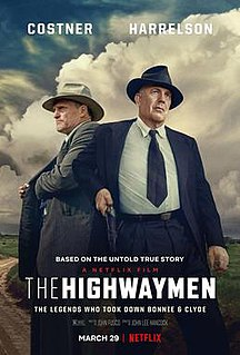 <i>The Highwaymen</i> (film) 2019 film directed by John Lee Hancock
