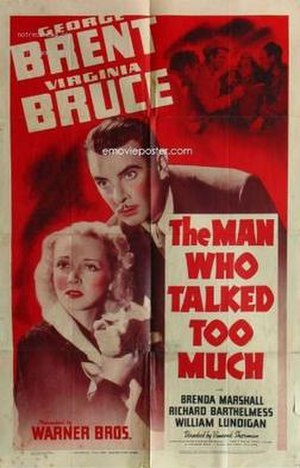 The Man Who Talked Too Much - Theatrical release poster