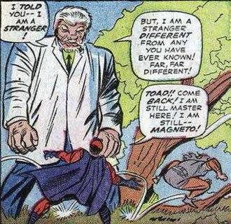 Toad (comics) - Toad abandoning Magneto.