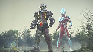 Ultraman Ginga - Ultraman Ginga (right) and Jean-nine (left), the series' main heroes.