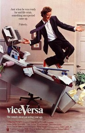 Vice Versa (1988 film) - Theatrical release poster