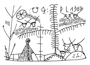 Hungarian mythology - The World Tree carved on a pot