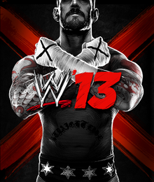 A picture of CM Punk is shown, with his arms in an X pose. The logo appears in the middle of him, all set on a black background with a large red X.