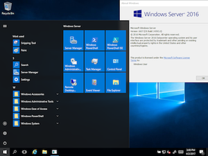 Windows Server 2016 - Image: Windows Server 2016 screenshot