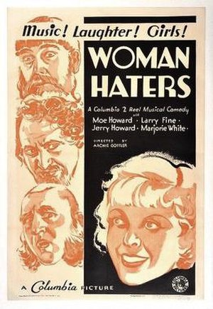 Woman Haters - The Stooges were not known professionally as the Three Stooges when the film was released and were billed under their own names