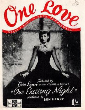 One Exciting Night (1944 film) - Song sheet movie tie-in