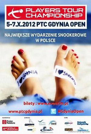 European Tour 2012/2013 – Event 2 - Image: 2012 Gdynia Open poster