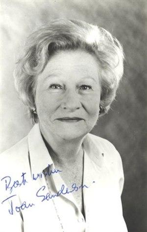 Joan Sanderson - Image: Actress Joan Sanderson