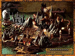 American McGee's Alice - World map of Wonderland