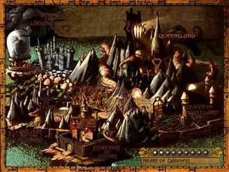 American McGee's Alice - World map of Wonderland