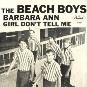 Barbara Ann - Image: Beach Boys Barbara Ann