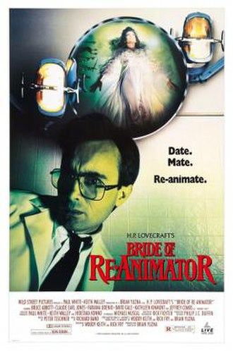 Bride of Re-Animator - Video release poster